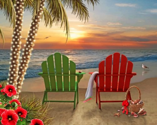 Beach Chairs paint by number