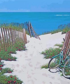 Bike In Beach Sand paint by numbers