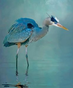 Blue Heron paint by number