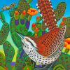 Cactus Wren Desert Bird Illustration Paint by numbers