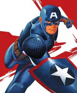 Captain America paint by number