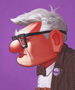 Carl Fredricksen paint by number