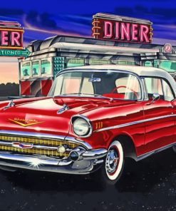 Chevy bel air Diner paint by number
