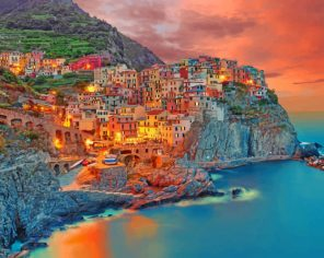Cinque Terre Italy paint by number
