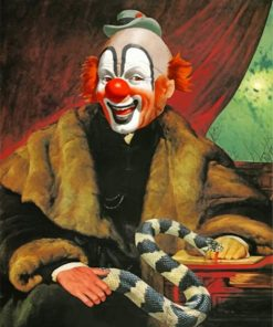 Clown With Snake paint by numbers