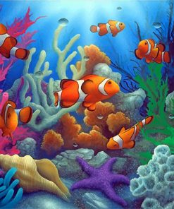 Clownfish Underwater Paint by numbers