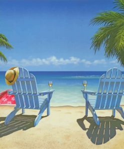 Coastal Beach Chairs paint by number