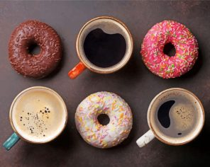Coffee And Donuts paint by number