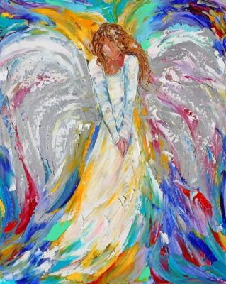 Colorful Angel Girl Art paint by number