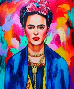 Colorful Frida paint by number