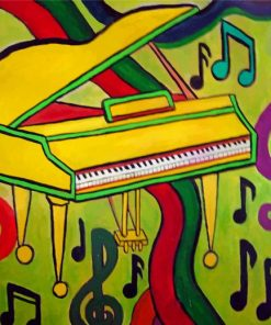 Colorful Piano Art paint by numbers