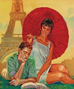 Couples In Paris Art paint by numbers