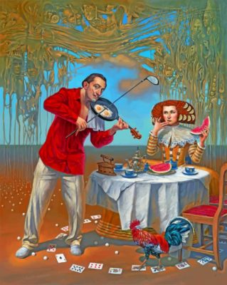 Dali's Romantic Breakfast Piant by numbers