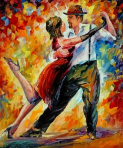 Dancing Couple Art paint by number