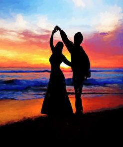 Dancing In The Beach paint by numbers