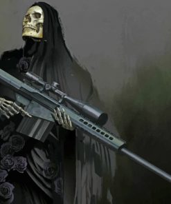 Death with a rifle paint by number