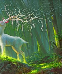Fantasy White Deer paint by numbers