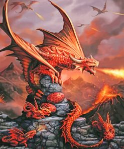Fire Dragon paint by numbers