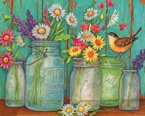 Flowers Jars paint by number