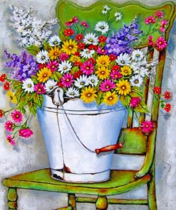 Flowers Pail paint by number
