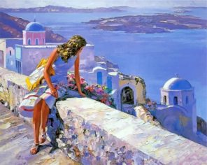 Girl In Greece paint by numbers