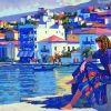 Grecian Harbor Art paint by numbers