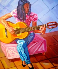 Guitarist Girl paint by number