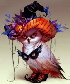 Halloween Witch Owl paint by number