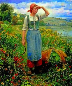 Harvest girl paint by number