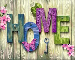 Home Sweet Home paint by numbers
