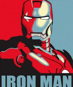 Iron Man paint by numbers