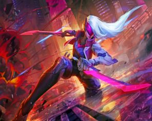 Katrina league of legends paint by numbers