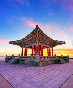 Korean Friendship Bell paint by number