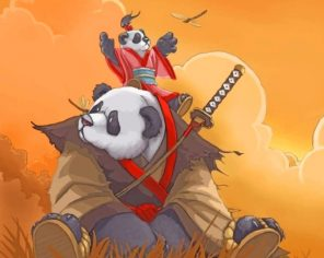 Kung Fu Panda paint by numbers