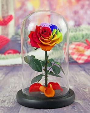 Led Rose Bottle paint by numbers