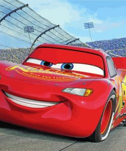 Lightning McQueen paint by number