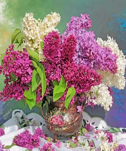 Lilac bouquet paint by number