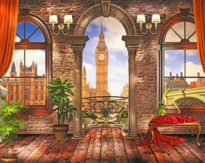 London Big Ben View paint by numbers