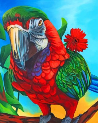 Macaw Bird paint by number