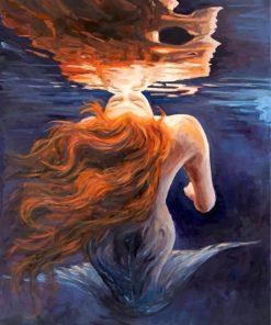 Mermaid Underwater Art paint by numbers
