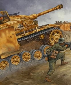 Military tank ww2 paint by numbers