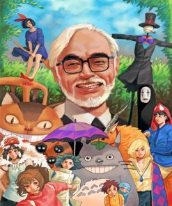Miyazaki And Ghibli Team paint by numbers
