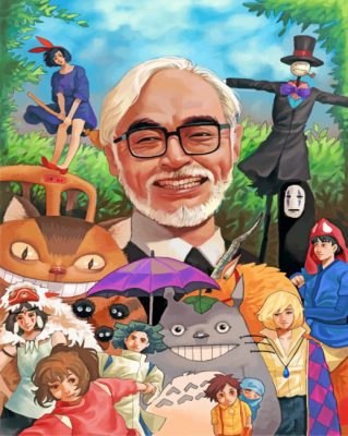 Miyazaki And Ghibli Team paint by numbers