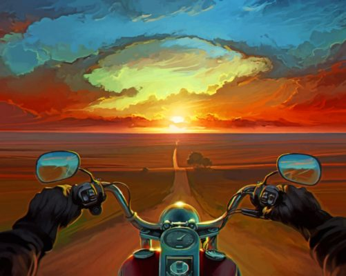 Motorcycle Driver paint by numbers