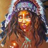 Native American Woman paint by numbers