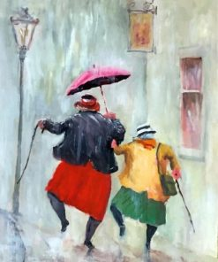 Old Women Dancing paint by numbers