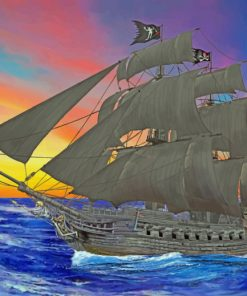Pirate Ship paint by numbers