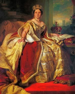 Queen Victoria paint by numbers