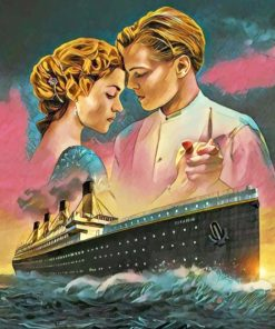 Rose And Jack Titanic paint by numbers