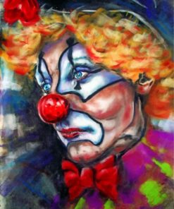 Sad Clown paint by numbers